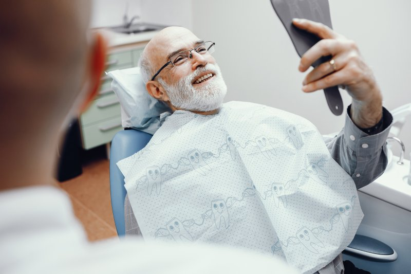 Patient at dentist in Midland